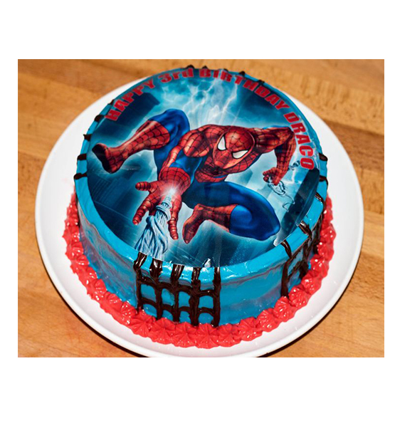 Eggless Spiderman Cartoon Cake