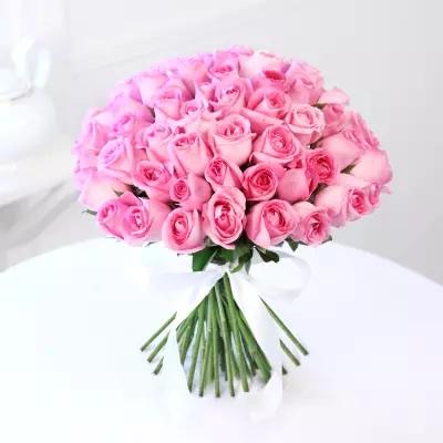 Bunch Of 50 Pink Roses Kalpa Florist