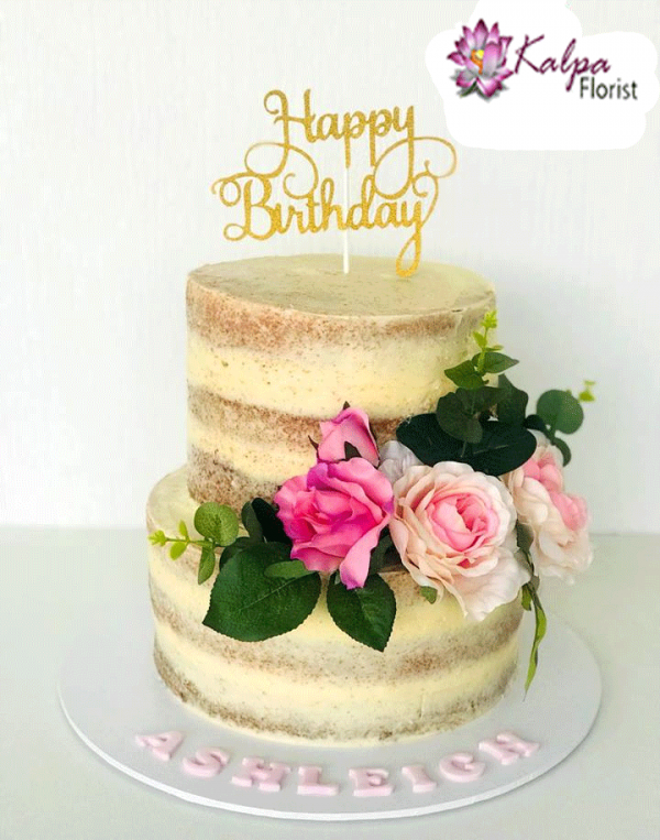 How to make a naked cake by Cakewalk Bake Shop | 100 Layer