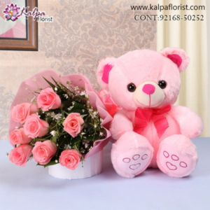 Flower & Teddy Bear Delivery in Jalandhar, Teddy Bear and flowers delivery in Jalandhar, Teddy bear and flowers Delivery in Jalandhar City, Buy Teddy Bear and flowers Online, Teddy bear and flowers Delivery to Jalandhar, Teddy Bear and flowers to Jalandhar,  Charming teddy bear and flowers to Jalandhar, Teddy bear and flowers Delivery in Jalandhar Same Day, Send Teddy bear and flowers Online with home Delivery, Same Day Online Teddy bear and flowers Delivery in Jalandhar, Online Teddy bear and flowers delivery in Jalandhar,  Midnight Teddy Bear and flowers delivery in Jalandhar,  Online shopping for Teddy Bear and flowers to Jalandhar Kalpa Florist