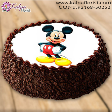 Birthday Cakes Near Me.Mickey Mouse Blackforest Cake 1 5 Kg Birthday Cake Order Near Me