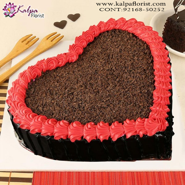 Birthday Cakes Near Me.Premium Quality Ultimate Chocolate Heart Cake 2 Kg Birthday Cake
