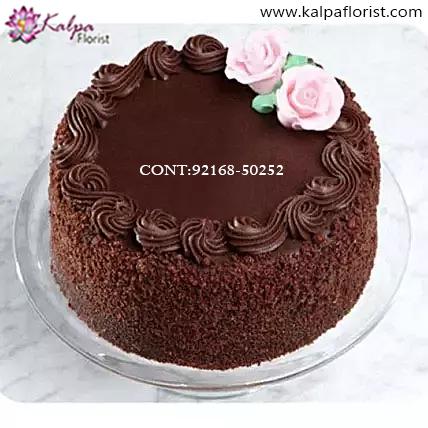 Admirable Send Birthday Cake Online Kalpa Florist Personalised Birthday Cards Paralily Jamesorg