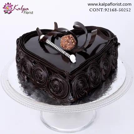 Kg Near Me >> Special Floral Chocolate Cake 1 5 Kg Cake Shop Near Me Jalandhar
