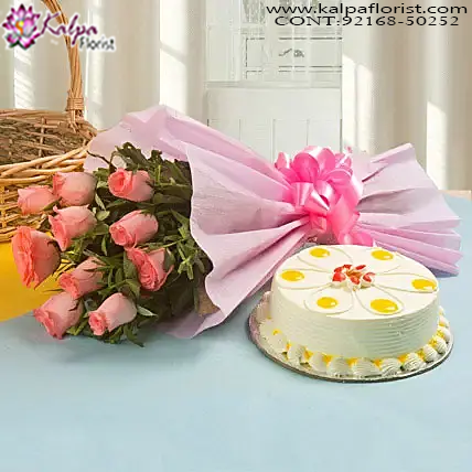 Palatable Love Standard Send Cake And Flowers To India