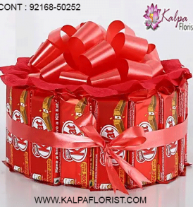 send chocolates to India - Kalpa Florist offers services of chocolate delivery to India. Here you can send valentine chocolates to India along with flowers, stuffed toys and cakes to deliver happiness to any corner in India.