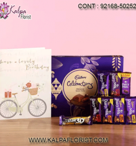 Get chocolate gift baskets online from Kalpa Florist. Explore widest variety of chocolates and send Chocolate gifts online to Delhi, Mumbai and other cities