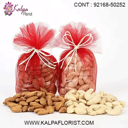 Send dry fruits gift hampers online to your dear ones in India. Almonds, Cashews, Pistachios, etc are perfect healthy gift on special occasions.