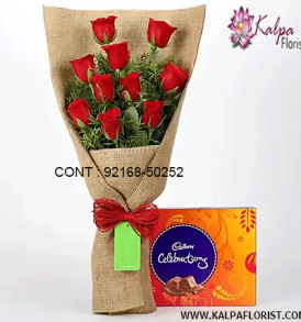 Buy flower bouquets with chocolates online from Kalpa Florist. The exciting combos of flower and chocolate gifts are available for many special occasions with shipping and same day delivery!