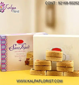 Buy Indian sweets online at an affordable price from Kalpa Florist. Send sweets online in India for all occasions with next day or same day sweet delivery.