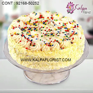 Send cake to India to surprise your near and dear ones at an affordable price with same day delivery. Order cake online like birthday cake, eggless, shape, black forest, chocolate cakes. Online cake delivery in india.