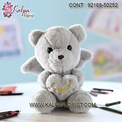 Teddy Day Gifts - Send Valentines day cute teddy bears online from Kalpa Florist. Bring smile on your love's face with teddy bear bouquet for teddy day.