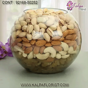 Buy best quality dry fruits online from Kalpa Florist. Variety of almond, badam, cashew, dates, raisins and pista online at great price with discounts.
