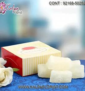 Buy your favourite Indian Sweets, Dry-fruits, Biscuits and Ready To Eat products at best price in India from Kalpa Florist Online.