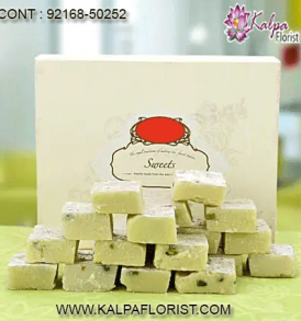 Send online Indian sweets online to USA best prices from Kalpa Florist deliver best quality indian mithai to united states with free & same day delivery.
