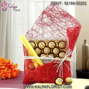 Buy the most delicious chocolate – freshly sourced from all over India, at the best price. Buy chocolate online, only on Kalpa Florist.