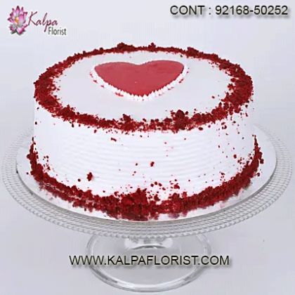 Valentine Cake Delivery At Kalpa Florist you can order valentine cakes online for your loved ones and we assure same day delivery for booking online valentine cakes at your doorstep.