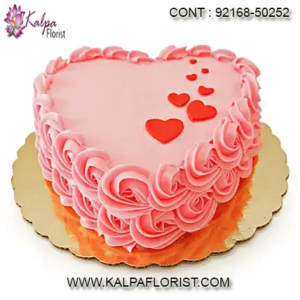 Valentine Cake Delivery At Kalpa Florist you can order valentine cakes online for your loved ones and we assure same day delivery for booking online valentine cakes at your doorstep