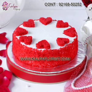 A wide range of Valentine Day Cake to make your day so memorable. Same Day and Midnight Valentine Day cake delivery in your city available at kalpa florist