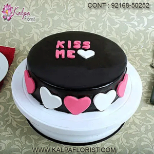 Send Valentine Cakes Online to Your Special ones from Kalpa Florist, Choose from the variety of cakes like chocolate, red velvet, black forest.