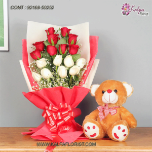 Valentine Gift for Her - Send special Valentines day gifts to your beloved in India from Kalpa Florist. Bring smile with valentine gifts for women.