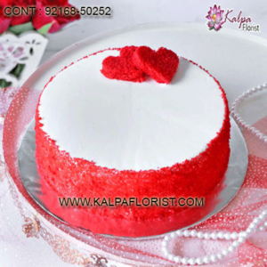 Best Red Valentines Red Velvet Cake delivery in India. Order Red Valentine Red Velvet Cake Online. ✓Freshly Baked ✓Premium Quality ✓Midnight Delivery .