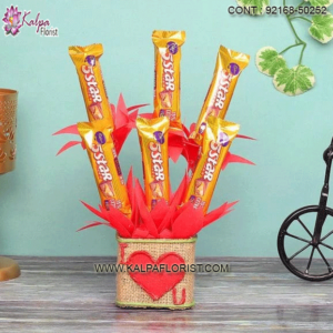 Chocolate For Valentine's: Send Valentine Special Chocolate For Valentine's to India. Buy Valentine's Day Special Chocolate Online From Kalpa Florist.