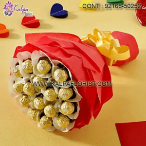 Send a chocolates bouquet to your loved ones in India. These luxurious and branded chocolates serve as an excellent gifts to India for special occasions.