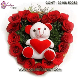 Teddy Bears - Buy online pink teddy bears at lowest prices in India on Kalpa Florist Cash on Delivery Available.Fore more details call us.