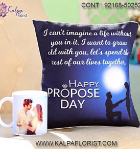 Valentine Romantic Gift | Buy Valentine Romantic Gifts from Kalpa Florist for Him & Her. Buy top valentine gifts like Cushions, Mug, roses, teddy and more.