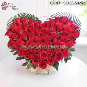 Valentine's Day Flower Bouquets - Send Valentine's Day flower bouquets online from Kalpa Florist to your dear one through same day free home delivery.