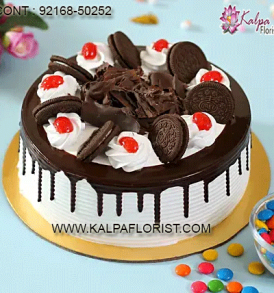 Send Cake online from best cake shop in India. Kalpa Florist offers online cake order at no extra cost with same day & midnight cake delivery .