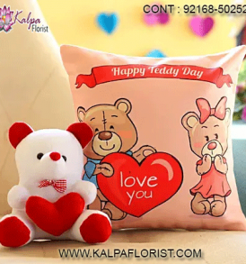 Buy/Send widest range of cute teddy bears and soft toys online at affordable prices in India from Kalpa Florist with Express Home Delivery Service.