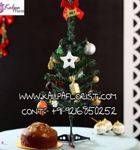 Xmas Tree Decor Almond Dry Cake