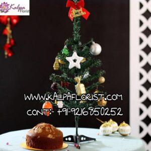 Xmas Tree Decor Almond Dry Cake