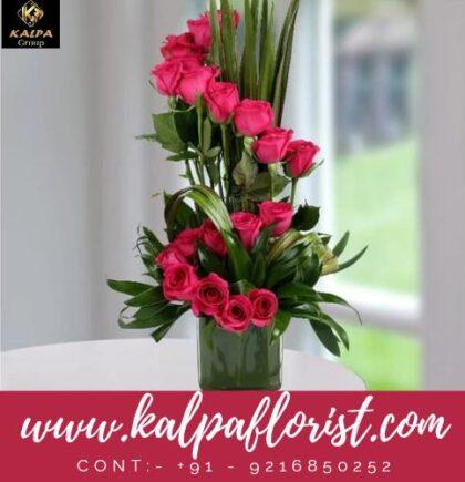 Pink Rose Arrangement