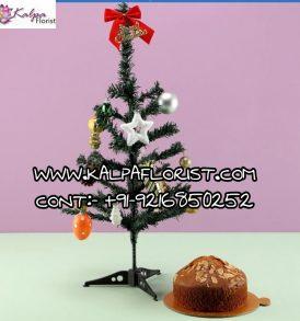 Xmas Tree Almond Cake