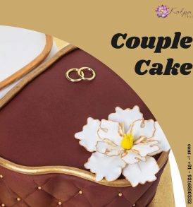 Double Heart And Ring Cake Deliver In Jalandhar