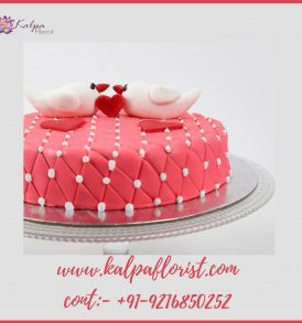 Kissing Birds Cake Valentine Cake