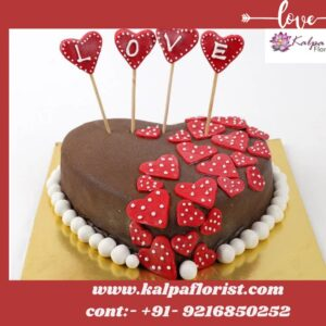 Valentine Red Heart Cake