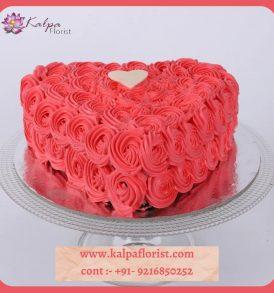 Valentine Heat Shape Cake