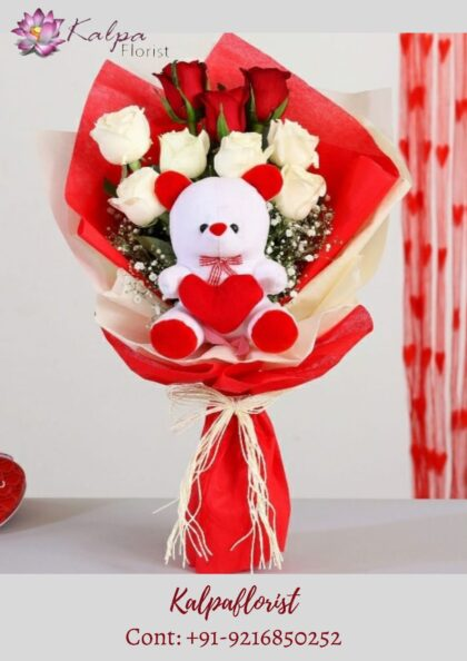 Bouquet Of Flowers With Teddy Bear | Online Gifts Delivery In Ludhiana | Kalpa Florist bouquet of flowers with teddy bear, flower bouquet with teddy bear, rose bouquet with teddy bear, bouquet of roses with teddy bear,  online gifts delivery to india, online gifts delivery in india, online gifts delivery in usa, online gifts delivery in bangalore, online gifts delivery in hyderabad, online delivery of gifts in bangalore, online gifts same day delivery in ghaziabad, online gifts delivery in raipur, online gifts delivery in ludhiana, online gifts delivery in vijayawada, online gifts delivery in patna, online birthday gifts delivery in vadodara, online gifts delivery in bhopal, online gifts delivery in jaipur, online gifts delivery in delhi, Online Gifts Delivery In Ludhiana, Red & White Roses Bouquet With Teddy Bear how to deliver gifts online, online gifts delivery in pune, online delivery of gifts in delhi, online gifts delivery in ahmedabad, online gifts delivery in faridabad, online delivery gifts for birthday, online gifts delivery in rajahmundry, online birthday gifts delivery in hyderabad, online cake and gifts delivery in jalandhar, online gifts delivery in visakhapatnam, online gifts delivery in gurgaon, online gifts delivery in nagpur, online gifts delivery today, online birthday gifts delivery in coimbatore, online gifts delivery in mysore, online birthday gifts delivery in lucknow, online gifts delivery in kolkata, online gifts delivery in kerala, online gifts delivery in mumbai, online gifts delivery in bathinda, online gifts delivery in mangalore, online gifts delivery in coimbatore, online cakes and gifts delivery in hyderabad, online gifts delivery in indore, online gifts delivery in one day, online gifts delivery in navi mumbai, online gifts delivery in kanpur, online gifts delivery in kakinada, online gifts in india same day delivery, online gifts delivery for valentine's day, online gifts home delivery in hyderabad, online gifts delivery in lucknow, online gifts delivery in jalandhar, online gifts delivery in chandigarh, online delivery of gifts in mumbai, online gifts delivery in varanasi, online birthday gifts delivery in mumbai, online gifts delivery in noida, online gifts delivery in kochi, diwali gifts online delivery in india, teddy bear with flowers and chocolate, teddy bear and chocolate gift basket, teddy bear with chocolate and roses, teddy bear and chocolate covered strawberries, teddy bear chocolate chip cookies, teddy bear chocolate cake, teddy day chocolate day, teddy chocolate bouquet, teddy coat chocolate brown, teddy bear chocolate lollipops, teddy with chocolate, teddy bear chocolate lollipop molds,  teddy with rose and chocolate, valentine week, valentine week days, which day valentine week, valentine week 2020, valentine week events, valentine week list, valentine week list 2020, valentine week day today, valentine week days list , valentine week 7 days, in valentine week today is which day, valentine week which day today, valentine week quotes, valentine week chocolate day, ideas for valentine week, valentine week ideas, valentine week today, valentine week of february, valentine week image, flower delivery in punjab, online cake and flower delivery in punjab, flower delivery jalandhar punjab, flower delivery online amritsar punjab, flower delivery in moga punjab, online flower delivery in punjab, online delivery from usa to india, flower delivery to india from australia, flower delivery from canada,  online flower delivery from uk to india, best flowrist in jalandhar punjab, flower point in jalandhar, Bouquet Of Flowers With Teddy Bear | Online Gifts Delivery In Ludhiana | Kalpa Florist