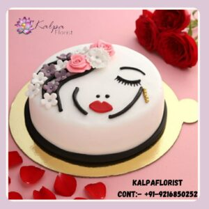 Womens Day Cake And Flower Delivery Midnight
