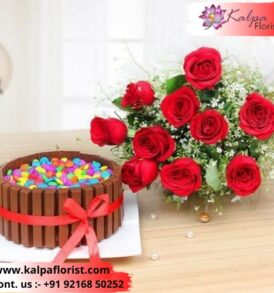 Flower And Cake For Birthday Same Day Gifts Delivery In Delhi