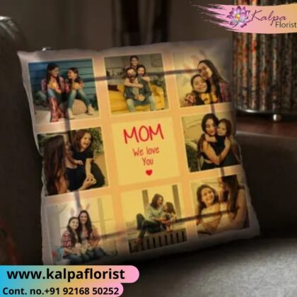 Mother Day Personalised Picture Cushion Send Gifts To India From USA