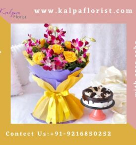 Cake and Flower for birthday send cake and flowers to india