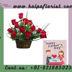 Roses Basket With Fathers Day Card | Gifts to India From Canada | Kalpa Florist, gifts to india from canada, send gifts to india from canada, how to send gifts to india from canada, gifts to india from canada 24x7, send gifts to india from canada online, gifts to take to india from canada, how to send gifts to india, send birthday gifts to india from canada, what gifts to take to india from canada, diwali gifts to india from canada, Order From : France, Spain, Canada, Malaysia, United States, Italy, United Kingdom, Australia, New Zealand, Singapore, Germany, Kuwait, Greece, Russia, Toronto, Melbourne, Brampton, Ontario, Singapore, Spain, New York, Germany, Italy, London, send to india, father's day card printable, fathers day card messages, father's day card for kids, fathers day card ideas for kids, father's day card designs, fathers day card from wife, fathers day card for husband, father's day gift card, best fathers day cards, fathers day card 2020, father's day card ideas from daughter, fathers day card greetings, basket of red roses, red roses basket arrangement, red roses basket, red roses in basket, red roses in a basket