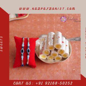 Rakhi Set with Kaju Roll |Order Rakhi Online To India | Kalpa Florist, order rakhi online to india, order rakhi online in india, how to order rakhi online, how to order rakhi online in india, rakhi with sweets online, rakhi with sweets,rakhi with sweet, rakhi with sweets online india, rakhi sweets box, rakhi with sweet online shopping, rakhi sweet image, rakhi and sweet, rakhi sweets ideas, rakhi sweet pic, rakhi pic with sweet, Order From : France, Spain, Canada, Malaysia, United States, Italy, United Kingdom, Australia, New Zealand, Singapore, Germany, Kuwait, Greece, Russia, Toronto, Melbourne, Brampton, Ontario, Singapore, Spain, New York, Germany, Italy, London, uk, usa, send to india, Rakhi Set with Kaju Roll |Order Rakhi Online To India | Kalpa Florist