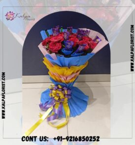 Red Roses Romantic Combo | Flower and Chocolate Delivery Near Me | Kalpa Florist, flower and chocolate delivery near me, who delivers flowers same day, can you get flowers delivered same day, how to send flowers and chocolates to someone, same day flower and chocolate delivery near me, where can i order flowers for same day delivery, can you send flowers same day