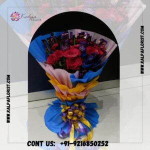Red Roses Romantic Combo   Flower and Chocolate Delivery Near Me   Kalpa Florist, flower and chocolate delivery near me, who delivers flowers same day, can you get flowers delivered same day, how to send flowers and chocolates to someone, same day flower and chocolate delivery near me, where can i order flowers for same day delivery, can you send flowers same day